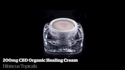 200mg CBD Organic Healing Cream            Hibiscus Topicals