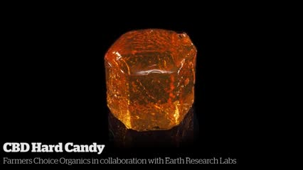 CBD Hard Candy            Farmers Choice Organics in collaboration with Earth Research Labs