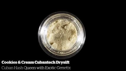 Cookies & Cream Cubantech Drysift         Cuban Hash Queen with Exotic Genetix