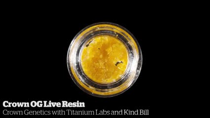 Crown OG Live Resin          Crown Genetics with Titanium Labs and Kind Bill