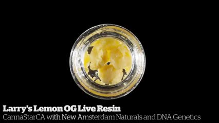Larry's Lemon OG Live Resin           CannaStarCA with New Amsterdam Naturals and DNA Genetics