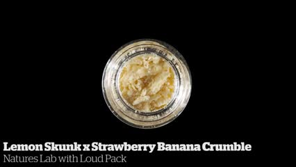Lemon Skunk x Strawberry Banana Crumble          Natures Lab with Loud Pack