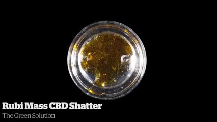 Rubi Mass CBD Shatter      The Green Solution
