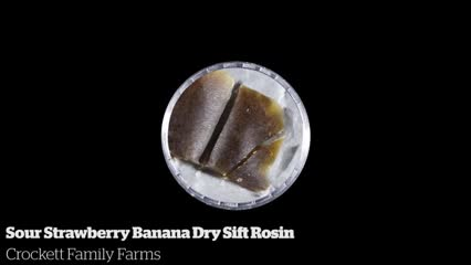 Sour Strawberry Banana Dry Sift Rosin            Crockett Family Farms