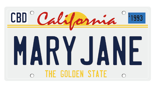 Tシャツ No.285 「California Number Plate MARY JANE (カリフォルニアナンバープレート メリージェーン)」